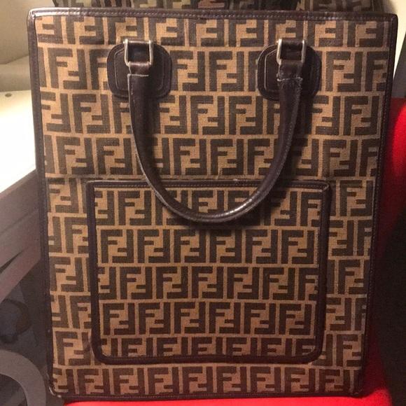 71fd12ae0a4c Fendi Handbags - 💕 Authentic Vintage FENDI SAC PLAT Tote Bag